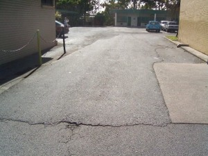 cracks to roadways